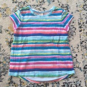 Girls Gymboree colorful striped shirt size small